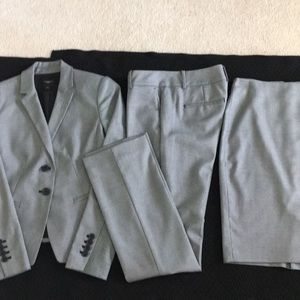 Three piece suit, jacket, pants, skirt
